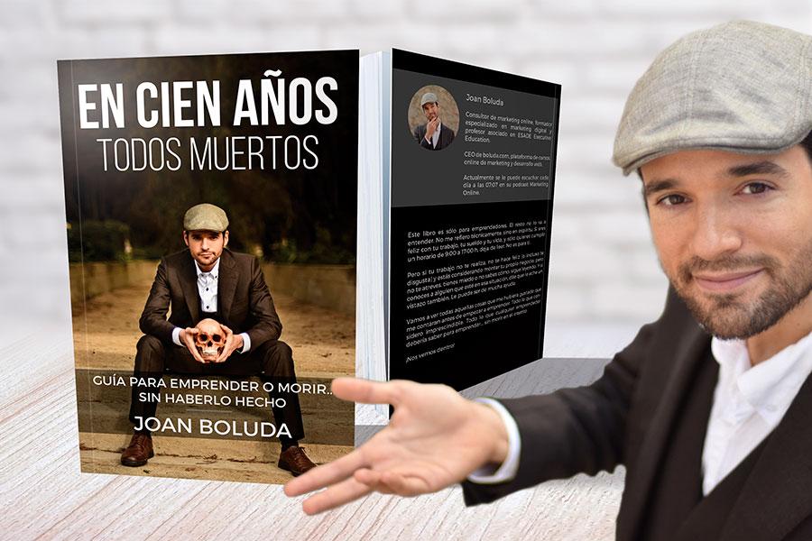 """Joan Boluda y su libro """"En cien años todos muertos"""""""