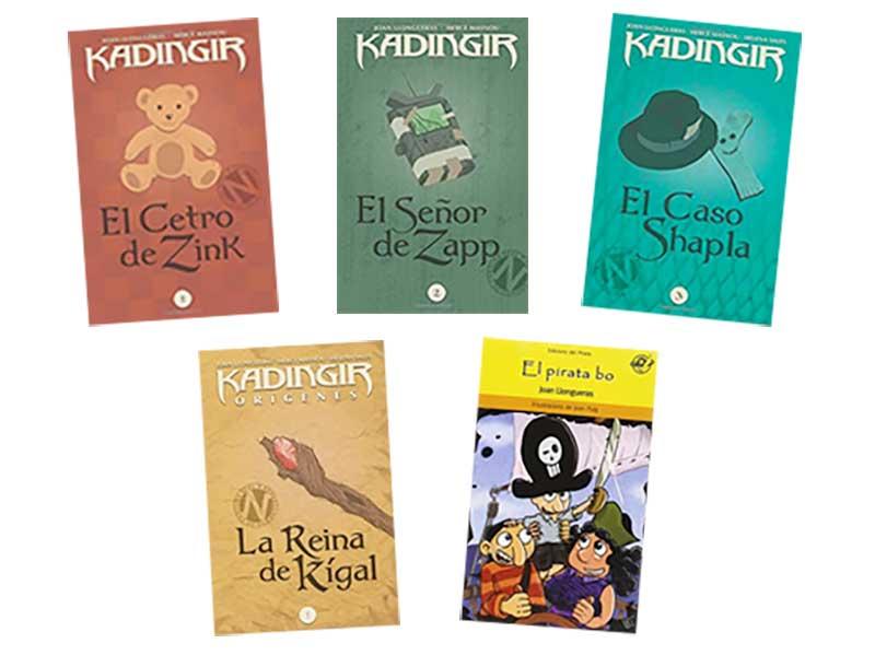 Portadas de los libros infantiles de Joan Boluda como Joan Llongueras