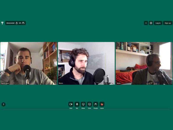 Entrevista sobre trabajo en remoto a Bosco Soler por Whereby