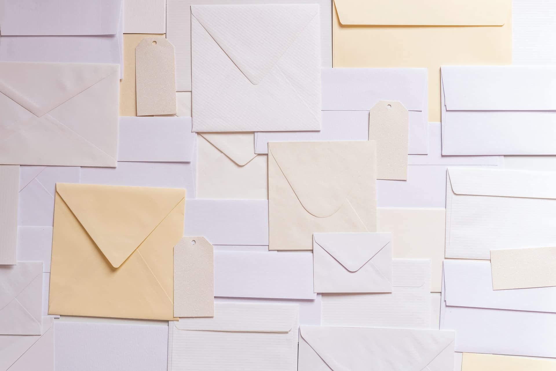 Sobres para correo (email marketing)